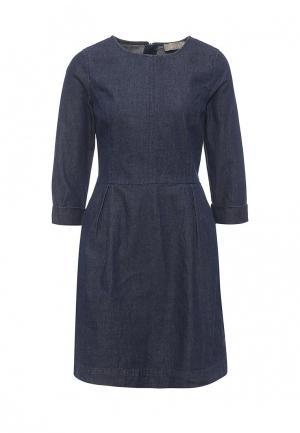 Платье джинсовое Oasis. Цвет: синий