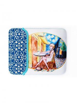 Чехол для планшета Sheldi. Цвет: лазурный, белый, голубой, желтый