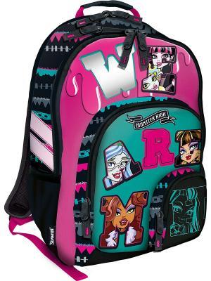 Рюкзак Monster High. Цвет: черный, голубой, розовый
