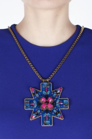 Колье из кристаллов Erickson Beamon. Цвет: золотой, синий, розовый