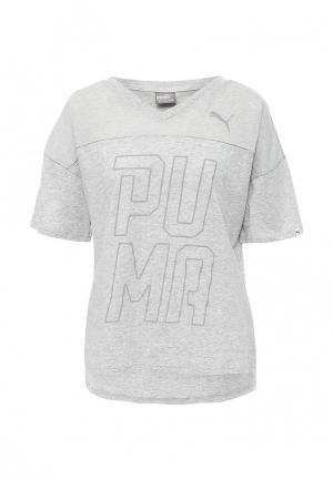 Футболка спортивная Puma. Цвет: серый