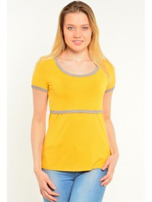 Блуза с секретом кормления Ням-Ням. Цвет: светло-коричневый, горчичный
