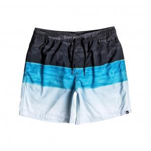 Шорты пляжные в широкую полоску QUIKSILVER. Цвет: черный/ синий