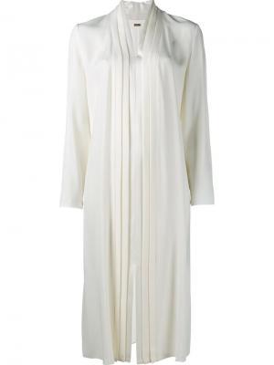 Платье с плиссированной вставкой Adam Lippes. Цвет: телесный