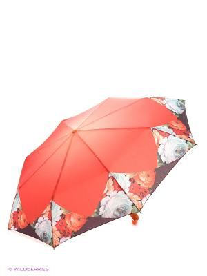 Зонт RAINDROPS. Цвет: бордовый, рыжий