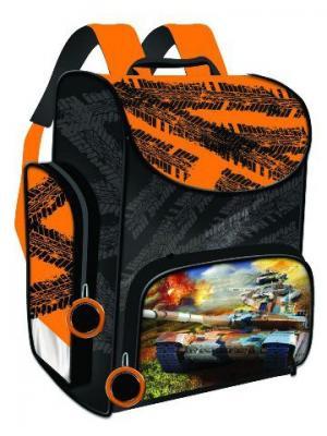 Ранец Premium box Танки жесткий каркас, черно-золотой Limpopo. Цвет: золотистый