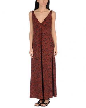 Пляжное платье SIYU. Цвет: коричневый