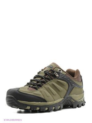 Спортивные ботинки Ascot. Цвет: хаки, черный