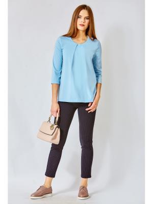 Блузка blans. Цвет: голубой
