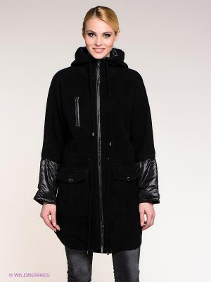 Пальто Stefanel. Цвет: черный