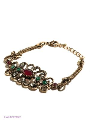 Браслет Lovely Jewelry. Цвет: бронзовый, зеленый, бордовый