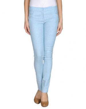 Повседневные брюки MAURO GASPERI. Цвет: небесно-голубой