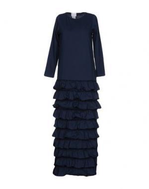 Длинное платье PINK BOW. Цвет: темно-синий