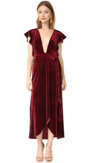 Платье Carolina MISA. Цвет: винный