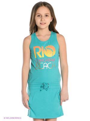 Платье Little Marcel. Цвет: бирюзовый