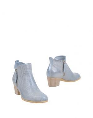 Полусапоги и высокие ботинки DONNA PIÙ. Цвет: небесно-голубой