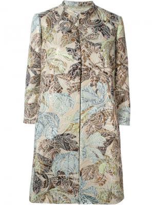 Пальто из парчи Antonio Marras. Цвет: многоцветный