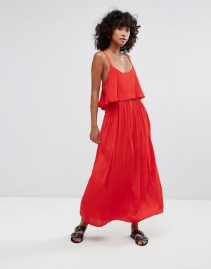 D.RA Платье макси Brigette. Цвет: красный