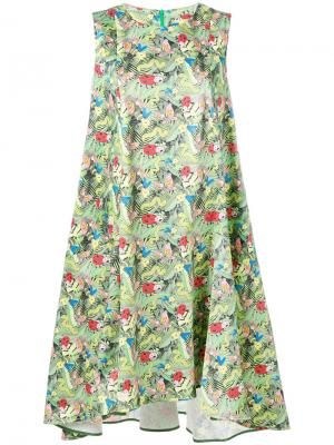 Платье с узором Ultràchic. Цвет: зелёный