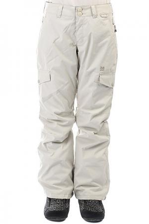 Штаны сноубордические женские DC Ace Pant Silver Birch Shoes. Цвет: белый