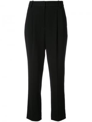 Укороченные строгие брюки Rebecca Taylor. Цвет: чёрный