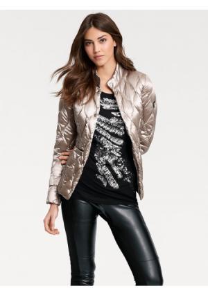 Пуховая куртка ASHLEY BROOKE by Heine. Цвет: серебристо-серый, серо-коричневый, черный