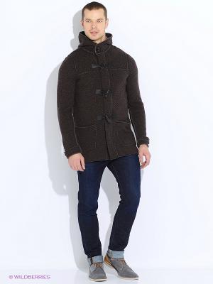 Пальто United Colors of Benetton. Цвет: коричневый