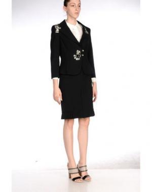 Классический костюм MARIA GRAZIA SEVERI. Цвет: черный
