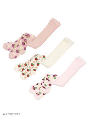 Колготки детские (3 шт) PERA MAYA. Цвет: розовый, белый, серый
