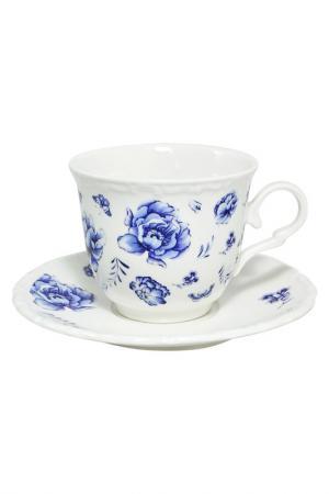 Чашка с блюдцем Федерация. Цвет: синий