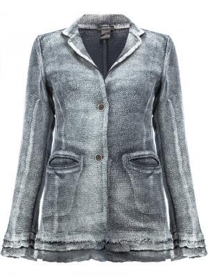 Выцветшая куртка на пуговицах Avant Toi. Цвет: синий
