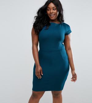 Closet Plus Платье-футляр. Цвет: синий