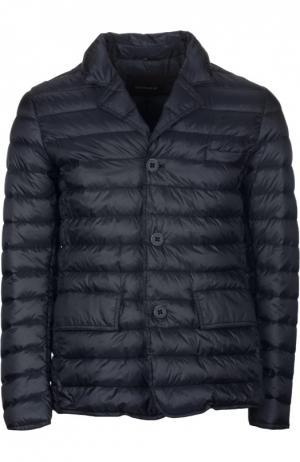 Пуховая куртка с отложным воротником [C]Studio. Цвет: темно-синий