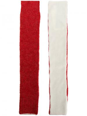 Длинные митенки Mm6 Maison Margiela. Цвет: телесный