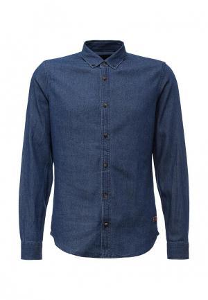 Рубашка джинсовая Solid. Цвет: синий
