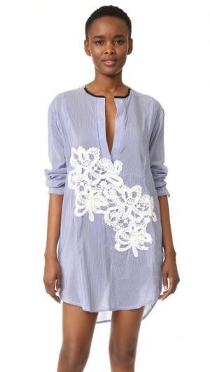 Платье-рубашка в полоску Jesi Flower LILA.EUGENIE. Цвет: синий/белый