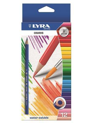 Lyra OSIRIS AQUARELL 12 цв.цветные карандаши акварельные. Цвет: красный, белый, синий