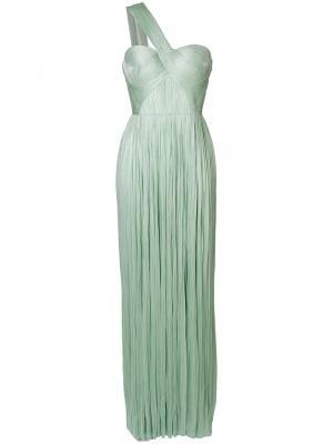 Платье на одно плечо Maria Lucia Hohan. Цвет: зелёный