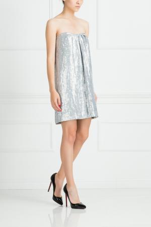 Платье из полиэстера Jay Ahr. Цвет: серебряный