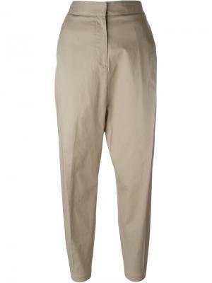 Укороченные брюки Alberto Biani. Цвет: телесный