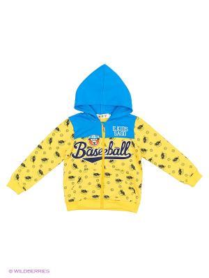 Толстовка Kidly. Цвет: голубой, желтый