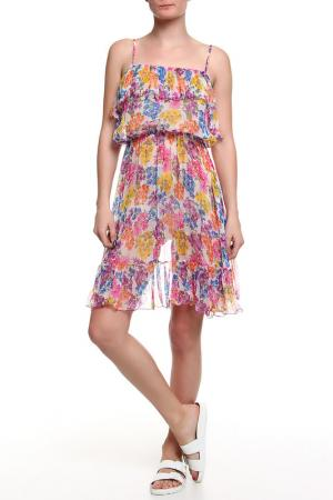 Платье CROISETTE. Цвет: принт цветы