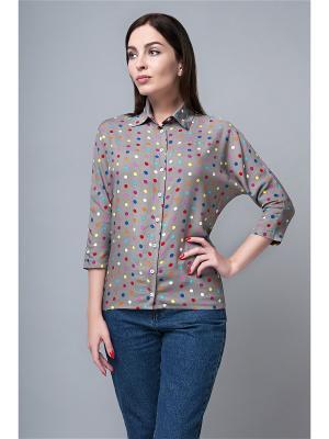 Блузка APRELLE. Цвет: серый, темно-бежевый