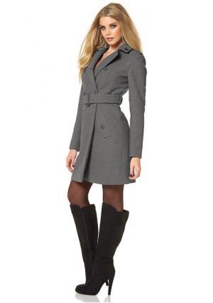 Короткое пальто MELROSE. Цвет: серый