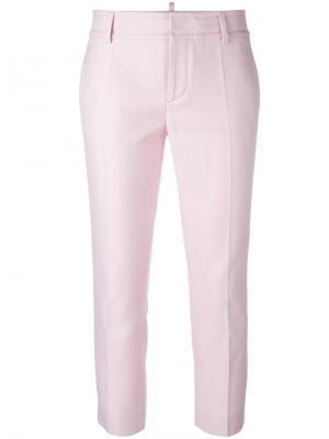 Узкие брюки Dsquared2. Цвет: розовый и фиолетовый