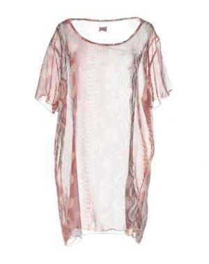 Блузка F**K PROJECT. Цвет: кирпично-красный