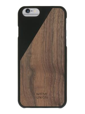 Чехол защитный для iPhone 6 , черное дерево CLICWooden Native Union. Цвет: черный