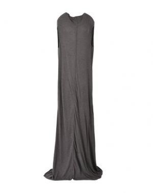 Длинное платье RICK OWENS LILIES. Цвет: стальной серый