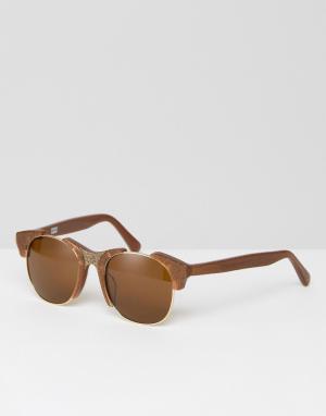 Markus Lupfer Солнцезащитные очки бронзового цвета с затемненными стеклами Lu. Цвет: медный