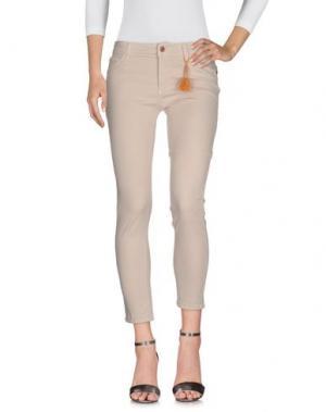 Джинсовые брюки ALYSI. Цвет: бежевый